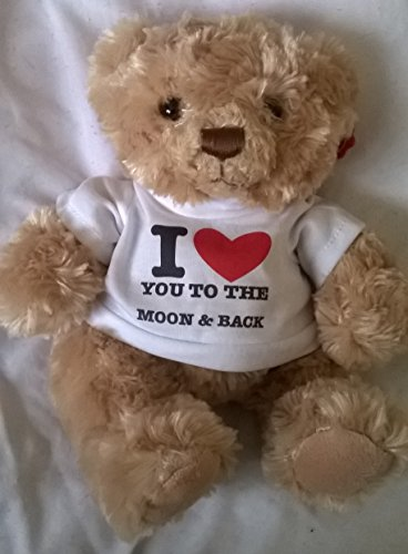 I LOVE YOU TO THE MOON AND BACK 7 TEDDY BEAR Romantic Gifts Presents For Her Him Valentines Mothers Day Birthday Christmas Boyfriend Girlfriend My Husband