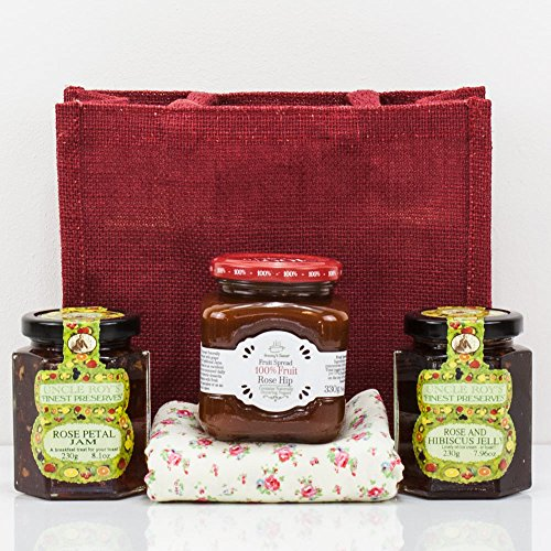 Natures Hampers Rose Jam Jelly Gift Bag