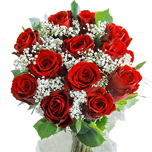 Floralcraft Red Rose Flower Bouquet Luxurious Ruby Red Rose Flower Bouquet With Free Next Working Day Delivery A Dozen Fresh Red Roses For