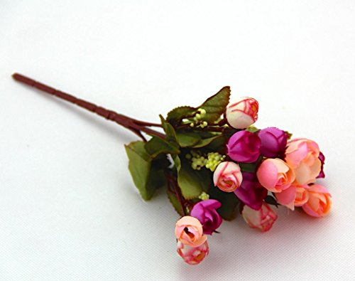 Romantic Pink Mix Flower Color Small Rosebuds Bouquet Of Roses - Which-artificial-flower-colors-are-good-for-a-home
