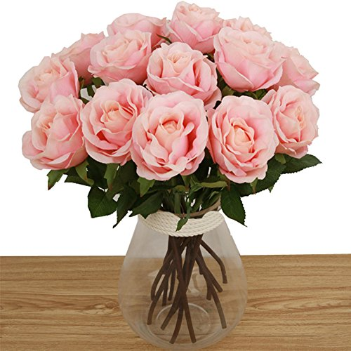 Toechmo Artificial Flowers Real Touch Flowers Silk Artificial Rose